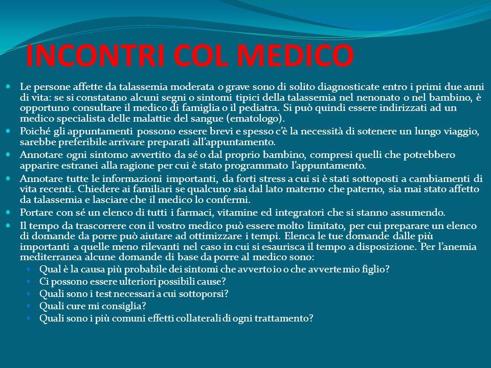 INCONTRI COL MEDICO