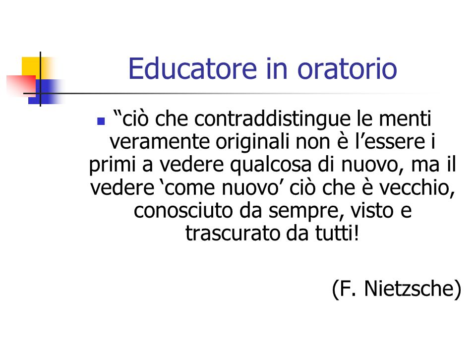 Educatore in oratorio