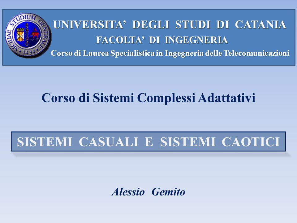 Corso di Sistemi Complessi Adattativi