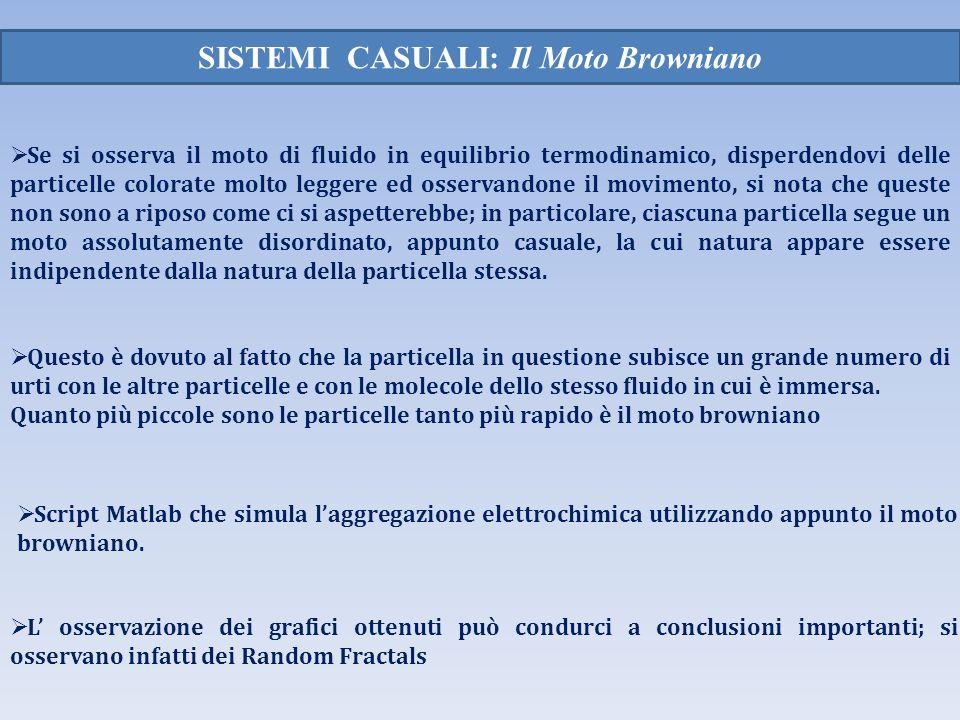 SISTEMI CASUALI: Il Moto Browniano