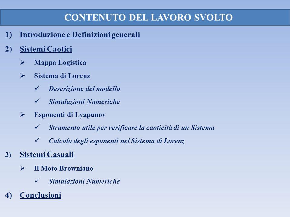CONTENUTO DEL LAVORO SVOLTO