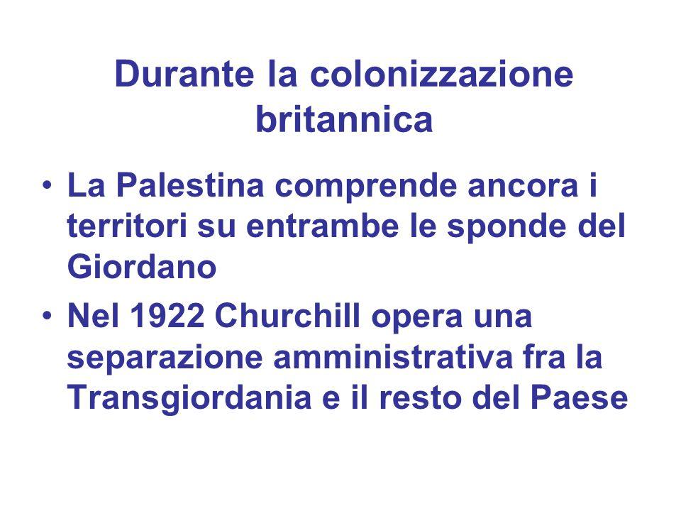 Durante la colonizzazione britannica