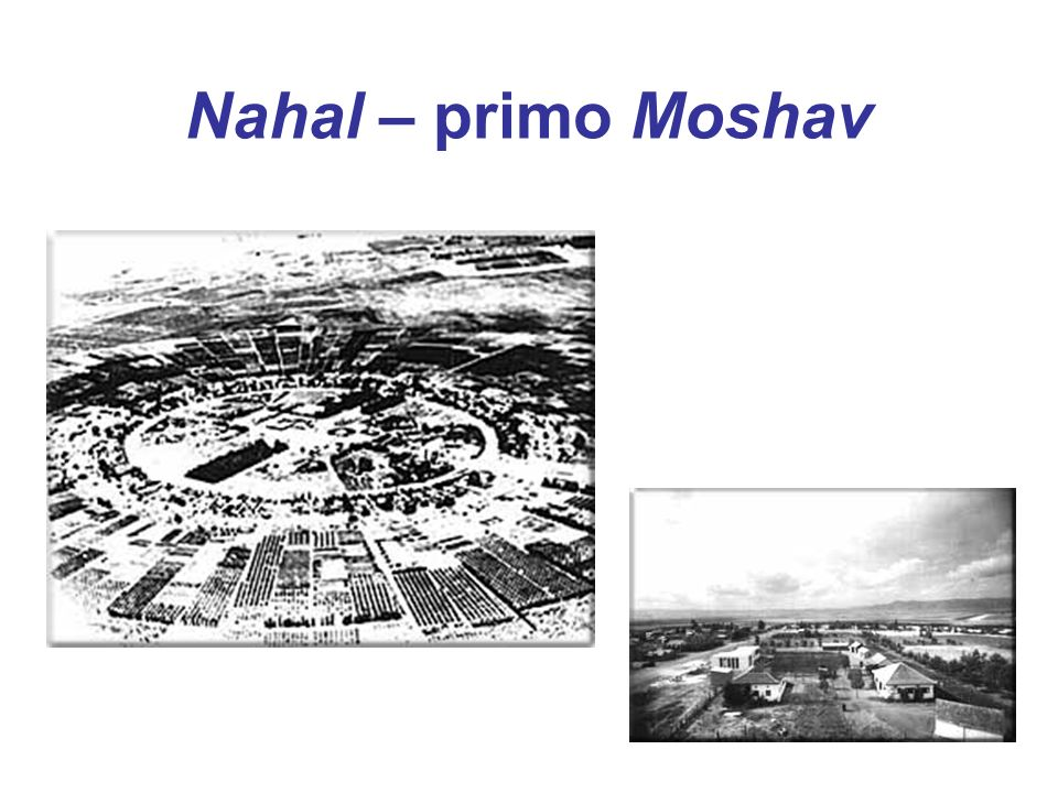 Nahal – primo Moshav