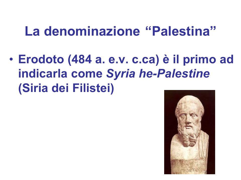 La denominazione Palestina