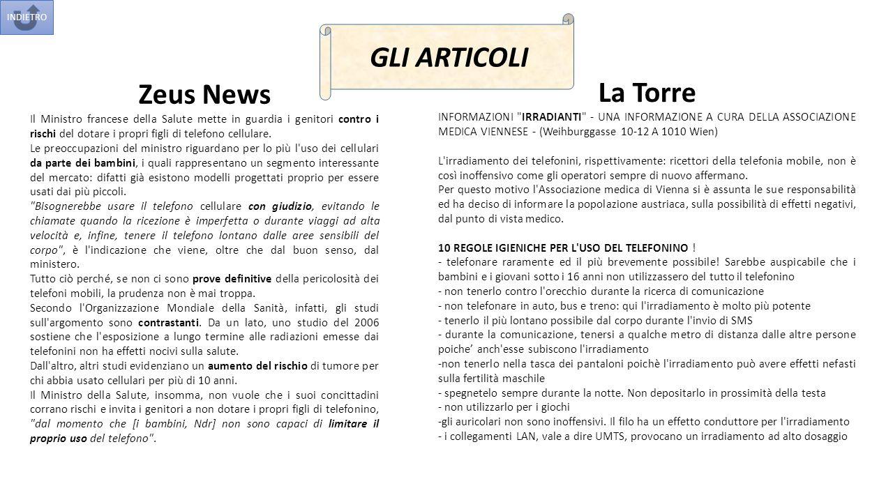 GLI ARTICOLI Zeus News La Torre