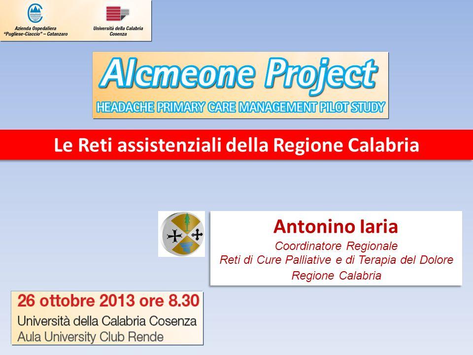 Le Reti assistenziali della Regione Calabria