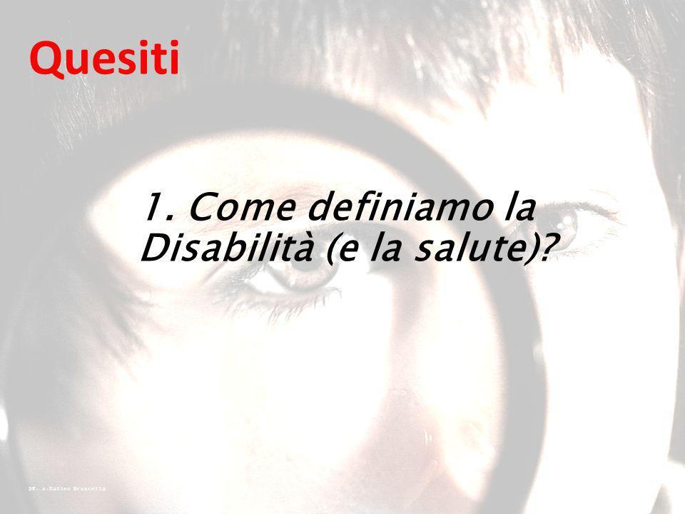 1. Come definiamo la Disabilità (e la salute)
