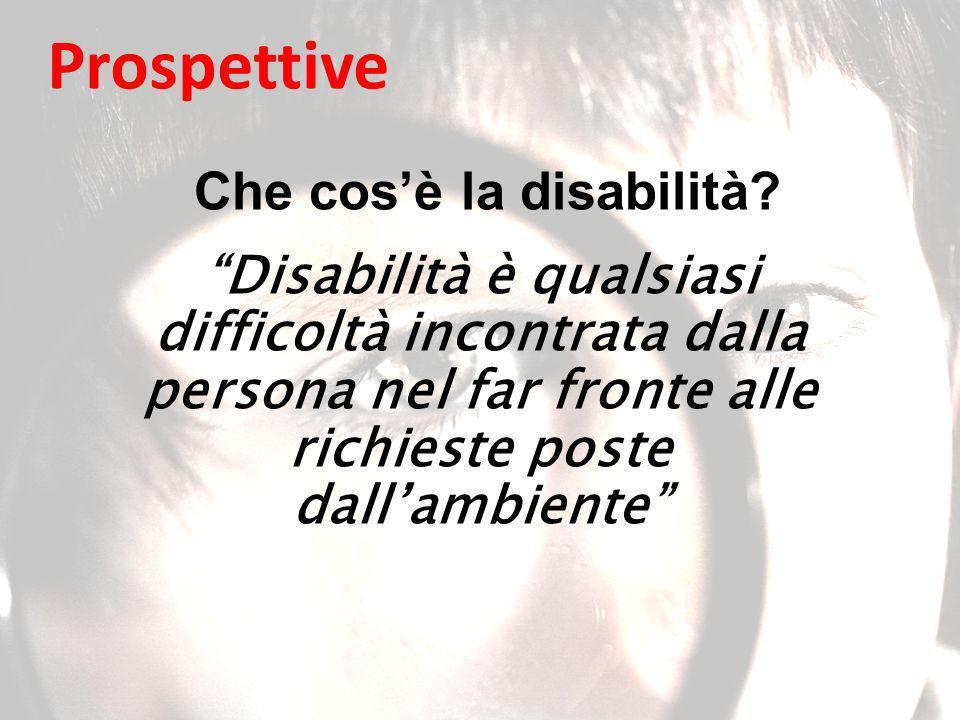 Che cos'è la disabilità
