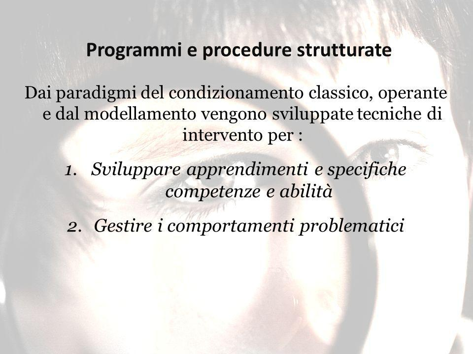 Programmi e procedure strutturate