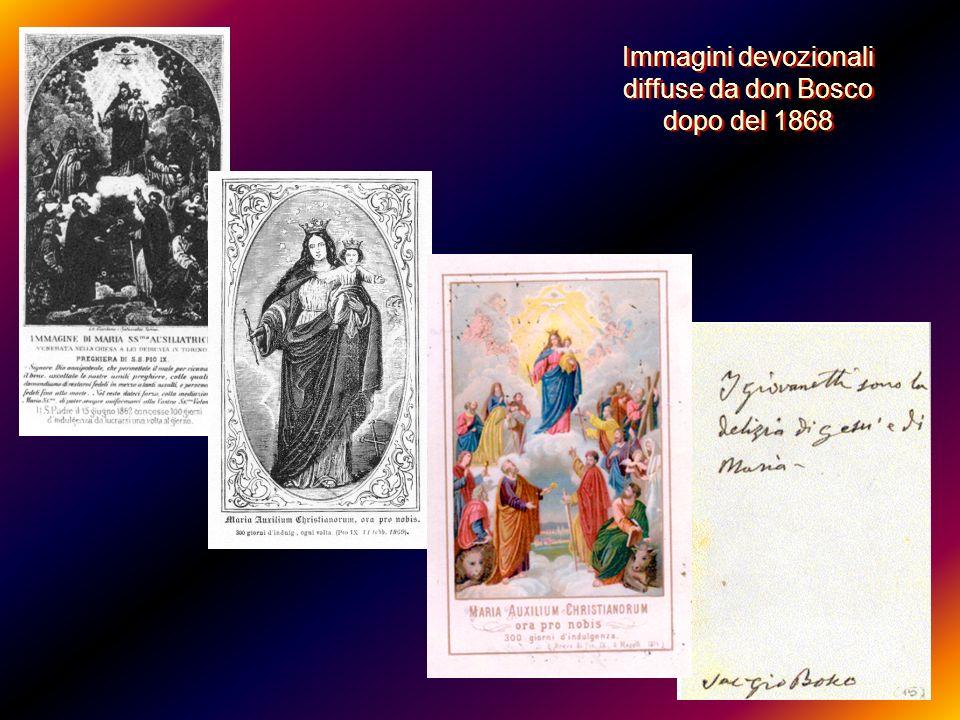 Immagini devozionali diffuse da don Bosco dopo del 1868