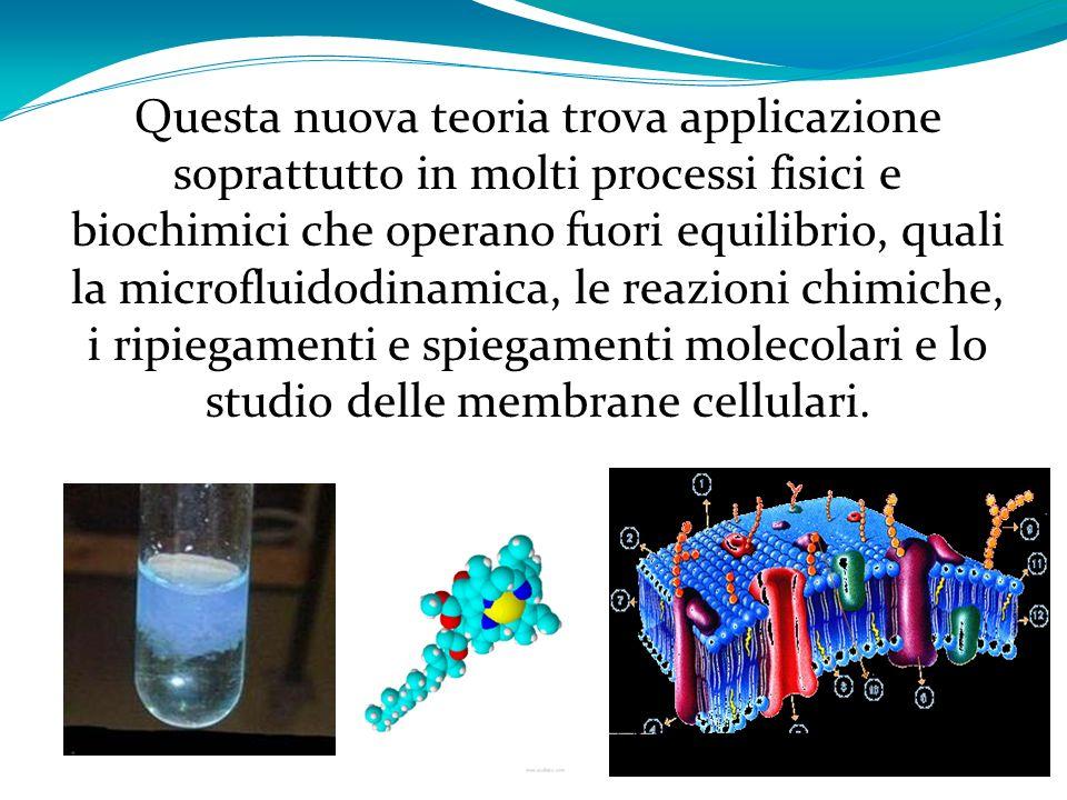 Questa nuova teoria trova applicazione soprattutto in molti processi fisici e biochimici che operano fuori equilibrio, quali la microfluidodinamica, le reazioni chimiche, i ripiegamenti e spiegamenti molecolari e lo studio delle membrane cellulari.