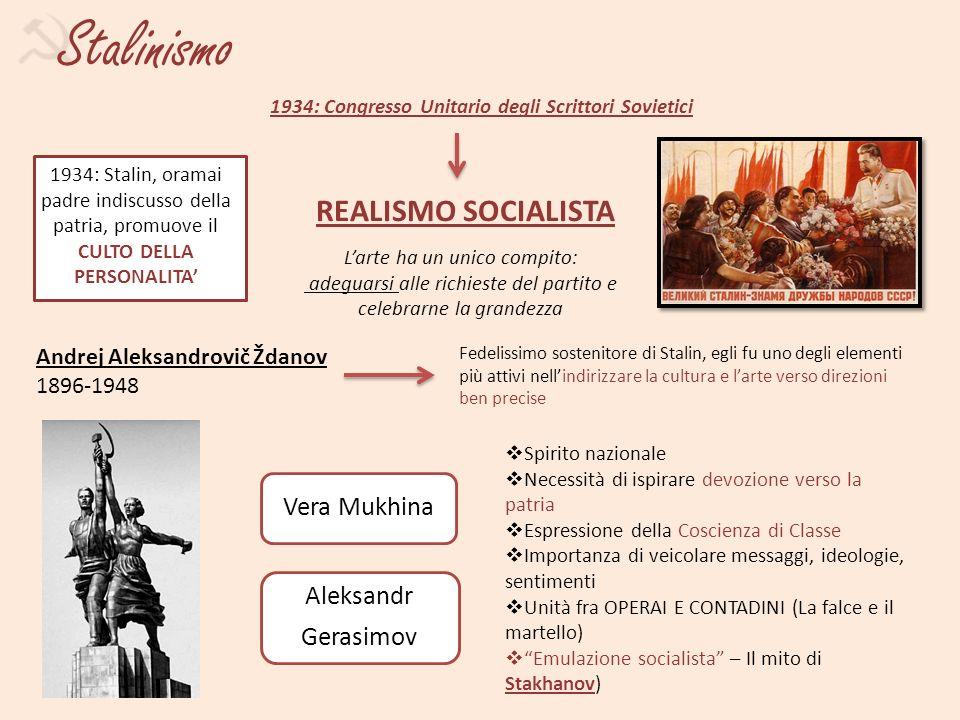 Stalinismo REALISMO SOCIALISTA Vera Mukhina Aleksandr Gerasimov g