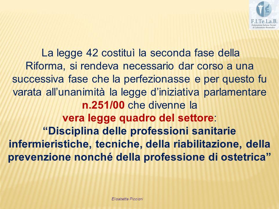 vera legge quadro del settore: Disciplina delle professioni sanitarie
