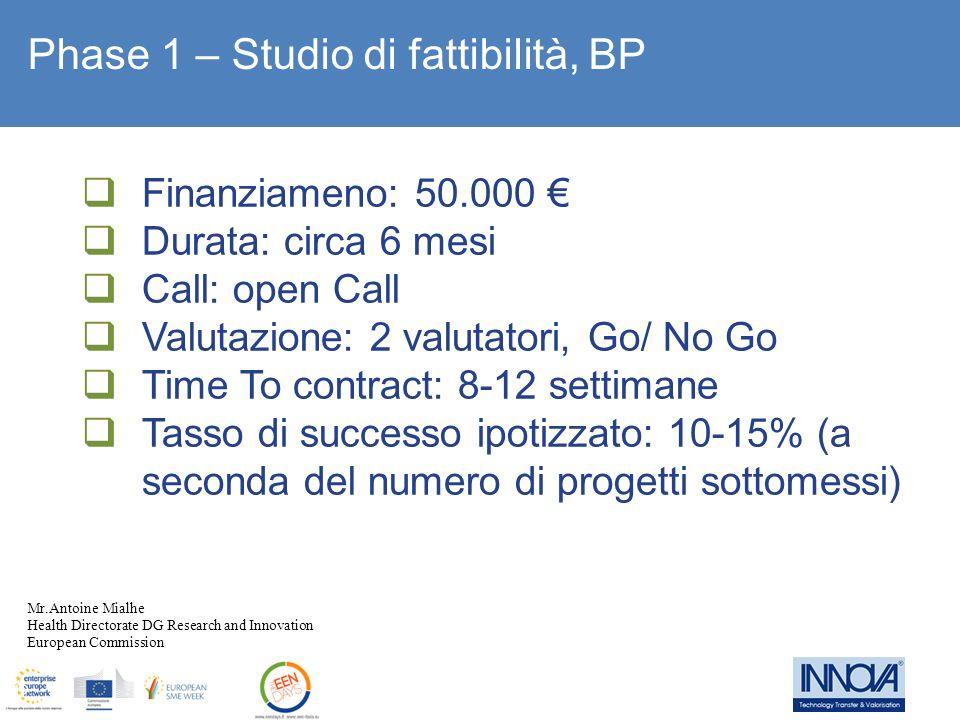 Phase 1 – Studio di fattibilità, BP