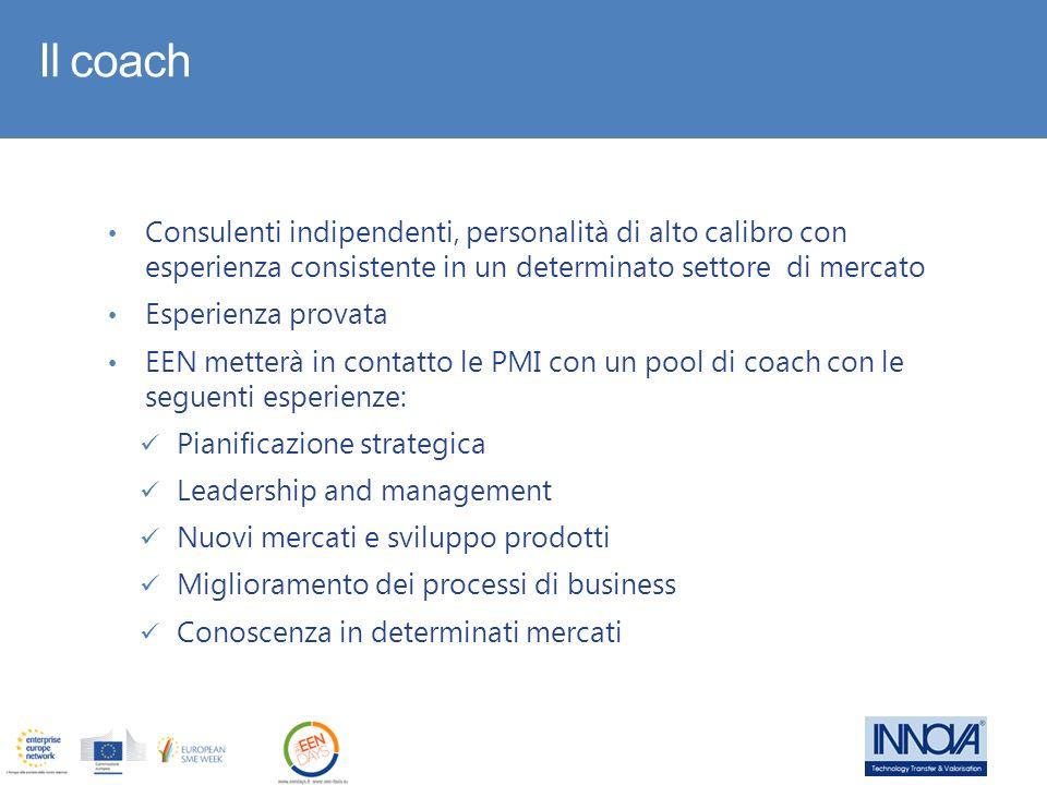 Il coach Consulenti indipendenti, personalità di alto calibro con esperienza consistente in un determinato settore di mercato.
