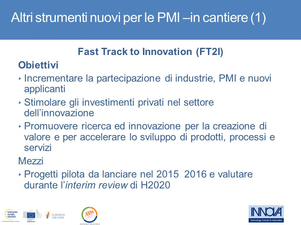 Fast Track to Innovation (FT2I)