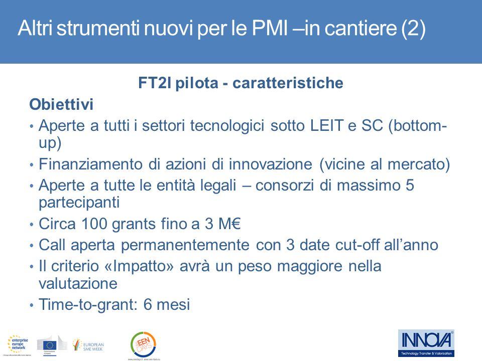 FT2I pilota - caratteristiche