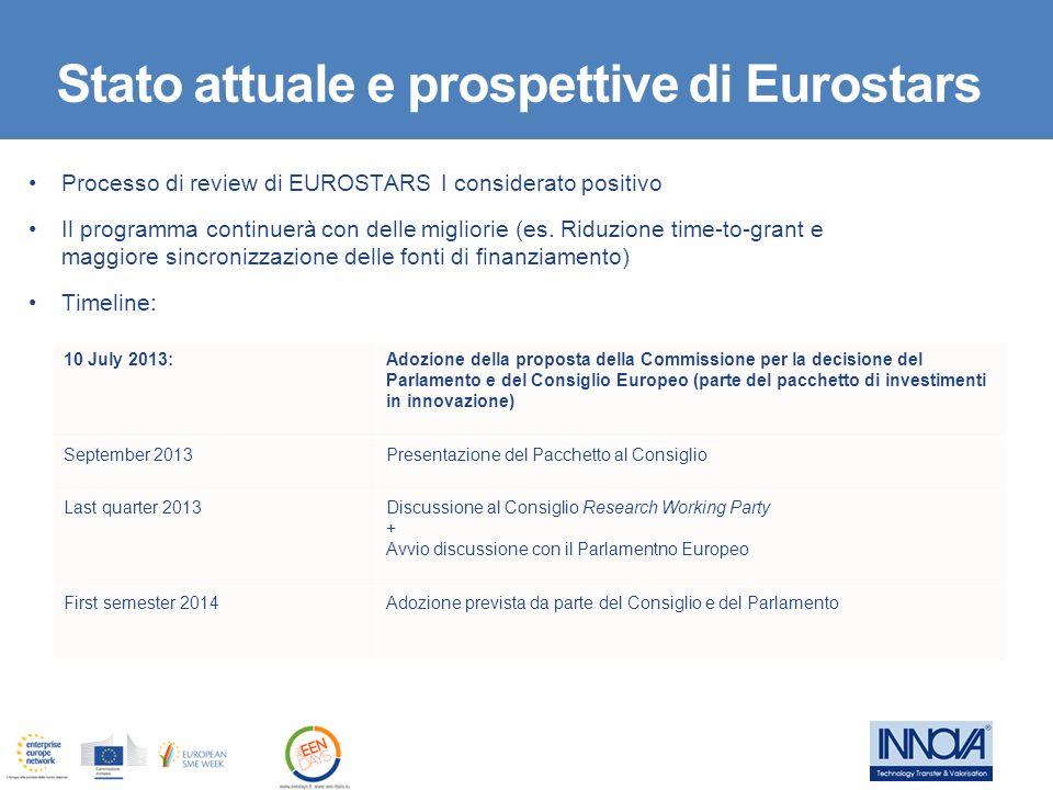 Stato attuale e prospettive di Eurostars