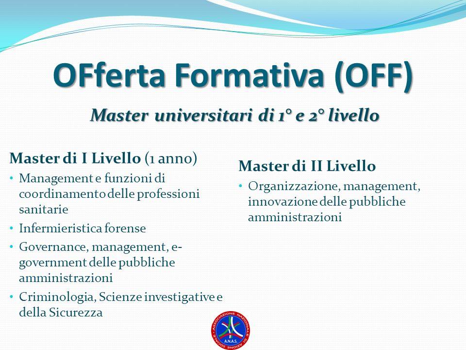 OFferta Formativa (OFF) Master universitari di 1° e 2° livello