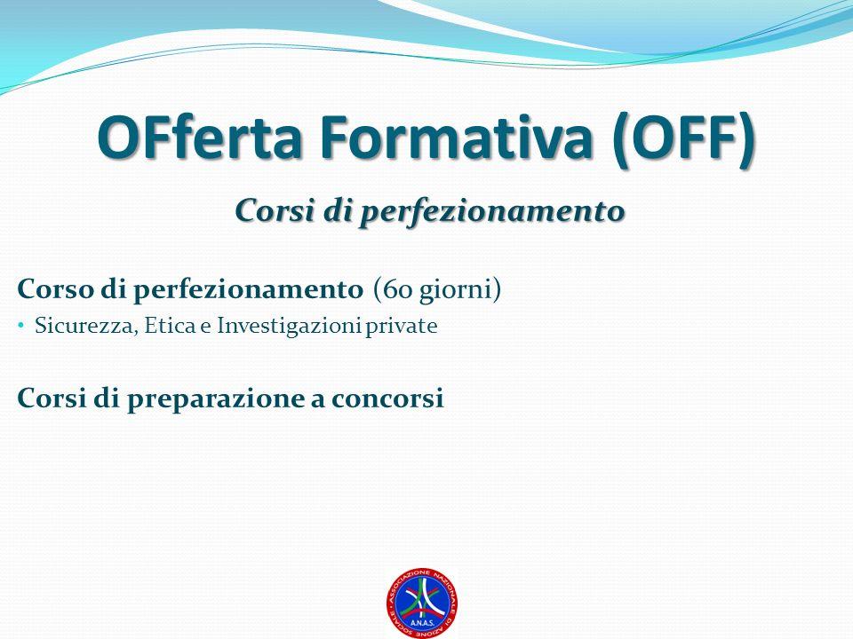 OFferta Formativa (OFF) Corsi di perfezionamento