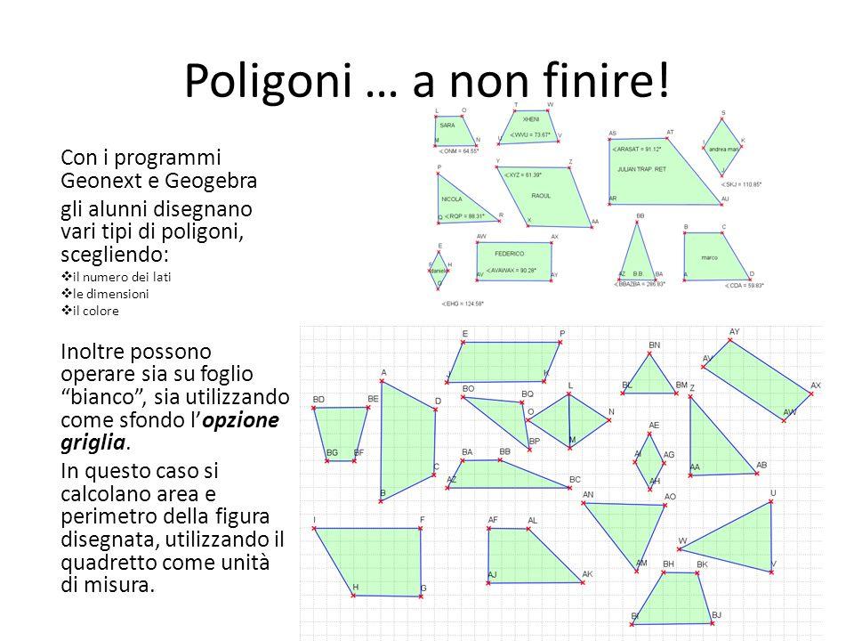 Poligoni … a non finire! Con i programmi Geonext e Geogebra
