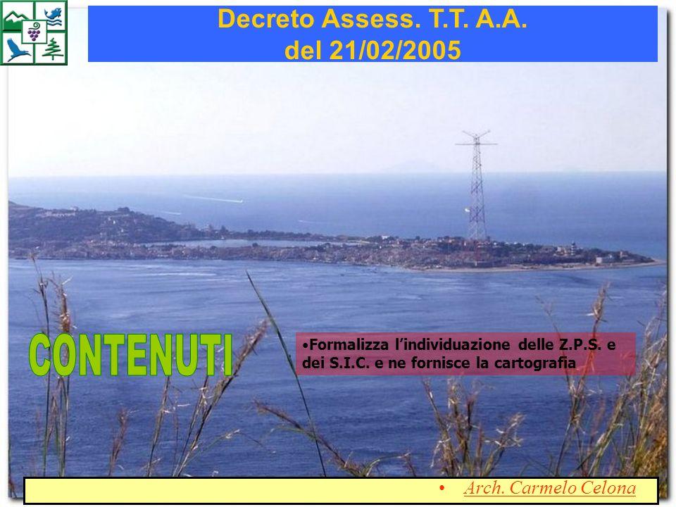Decreto Assess. T.T. A.A. del 21/02/2005
