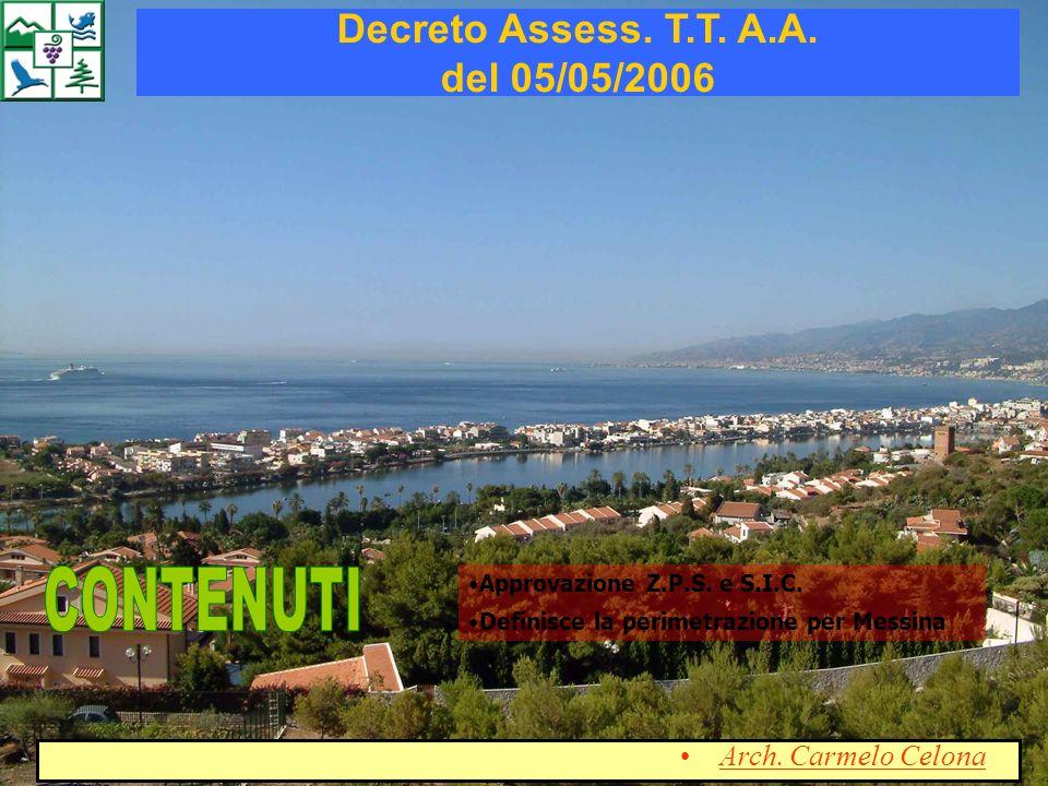 Decreto Assess. T.T. A.A. del 05/05/2006