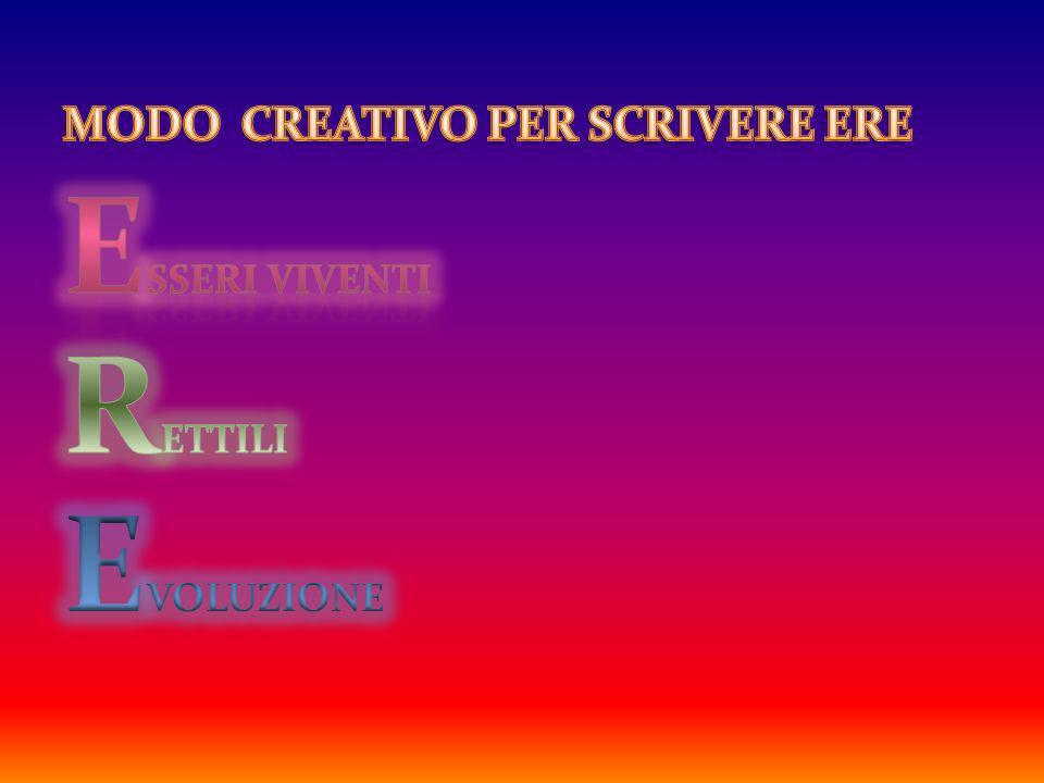MODO CREATIVO PER SCRIVERE ERE