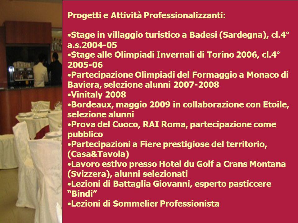 Progetti e Attività Professionalizzanti: