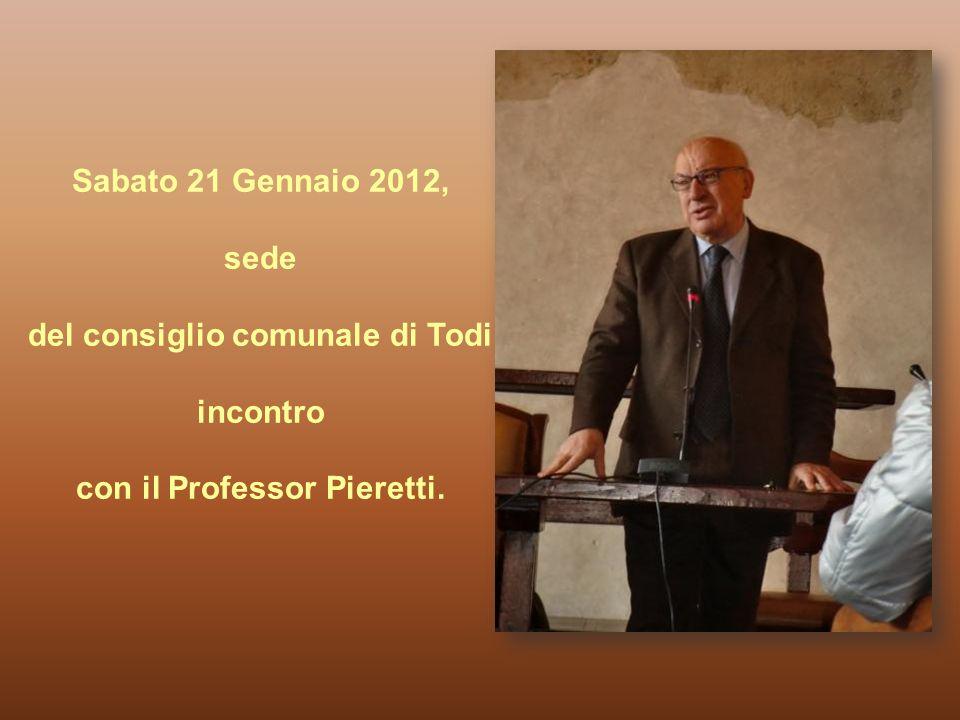 del consiglio comunale di Todi con il Professor Pieretti.