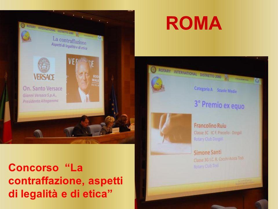 ROMA Concorso La contraffazione, aspetti di legalità e di etica