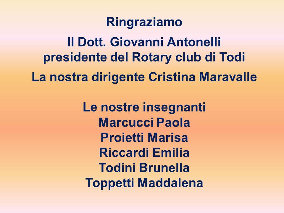 Il Dott. Giovanni Antonelli presidente del Rotary club di Todi