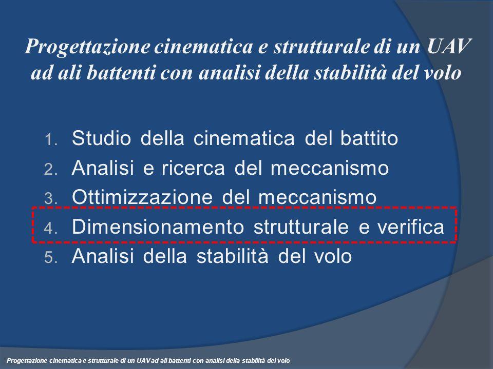 Progettazione cinematica e strutturale di un UAV