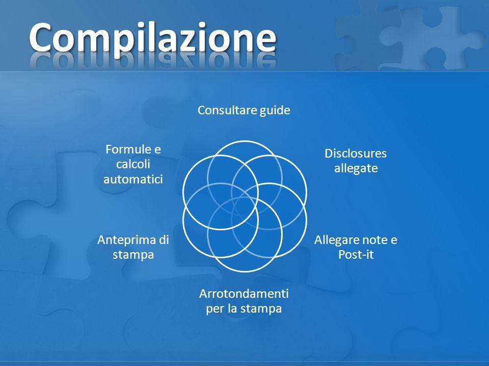 Compilazione Consultare guide Disclosures allegate