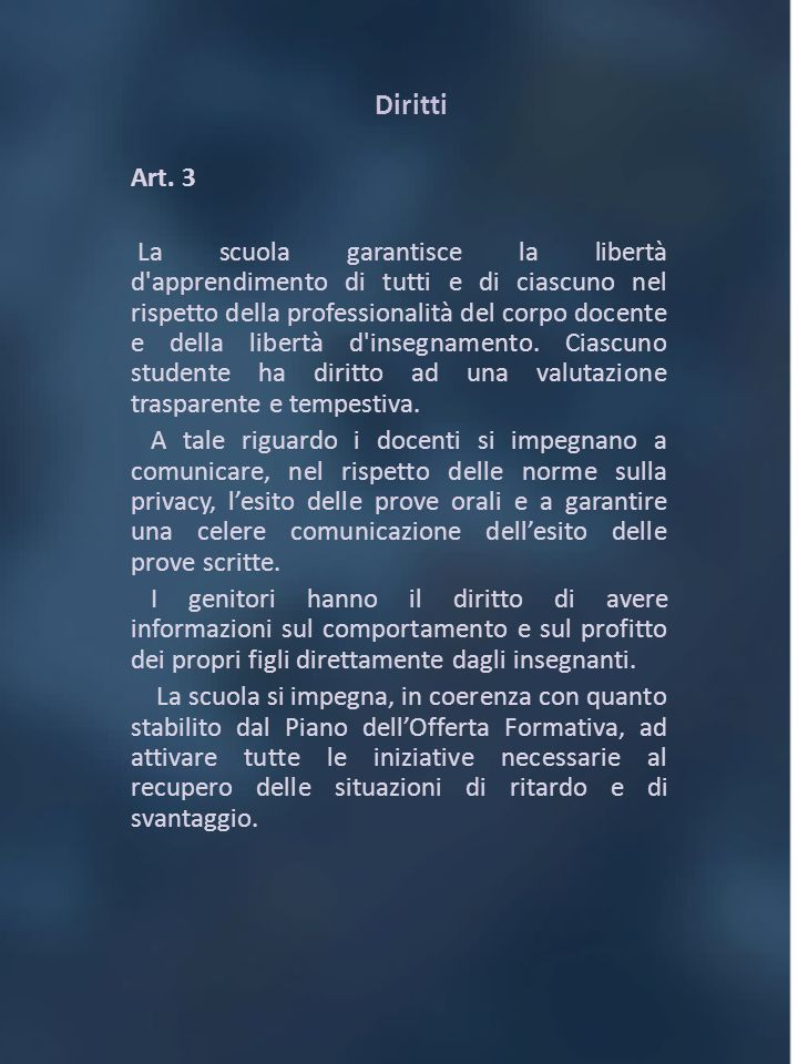 Diritti Art. 3.