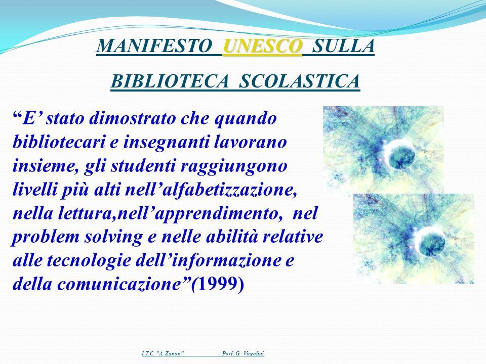 MANIFESTO UNESCO SULLA BIBLIOTECA SCOLASTICA