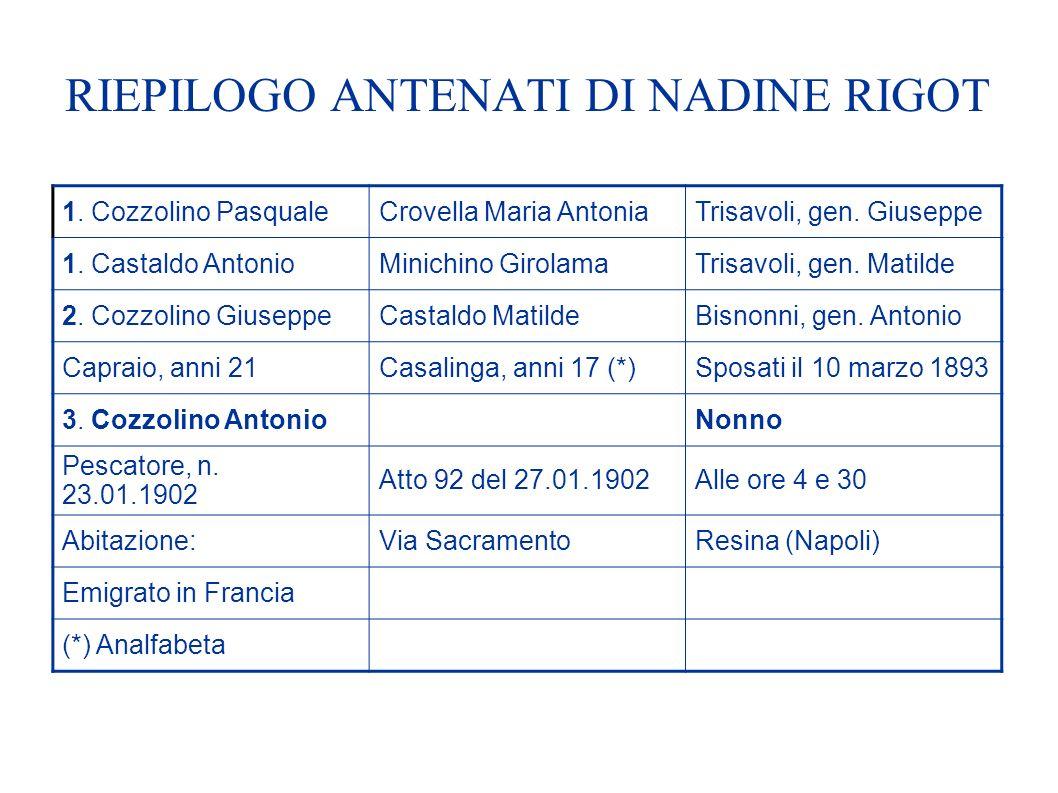 RIEPILOGO ANTENATI DI NADINE RIGOT