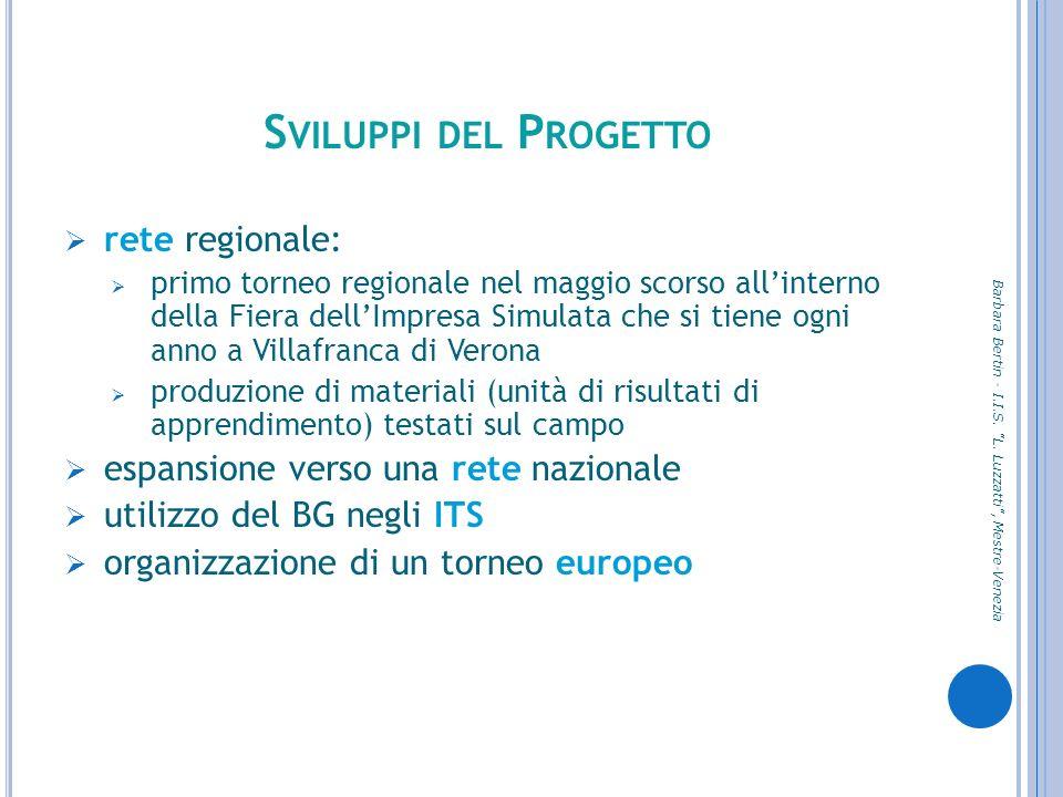 Sviluppi del Progetto rete regionale: