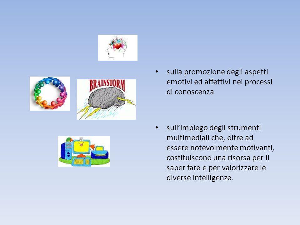 sulla promozione degli aspetti emotivi ed affettivi nei processi di conoscenza