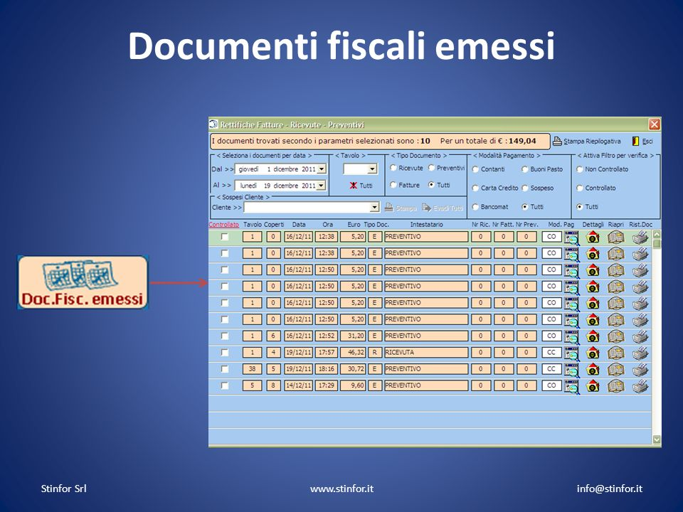 Documenti fiscali emessi