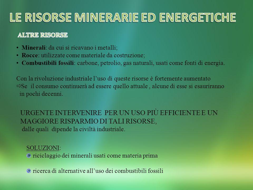 LE RISORSE MINERARIE ED ENERGETICHE