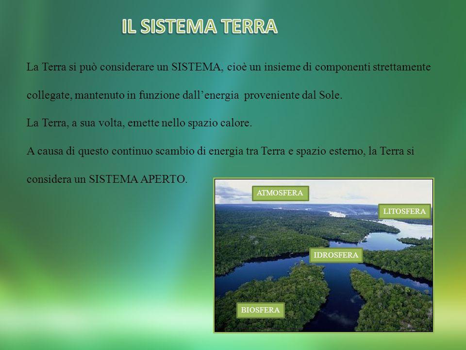IL SISTEMA TERRA La Terra si può considerare un SISTEMA, cioè un insieme di componenti strettamente.
