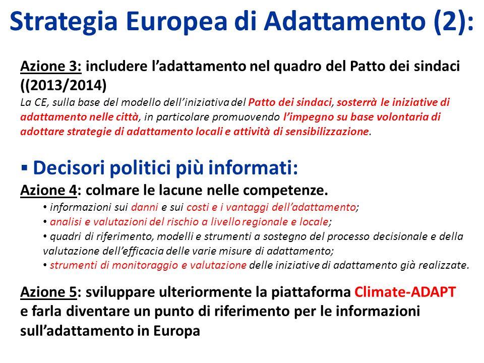 Strategia Europea di Adattamento (2):