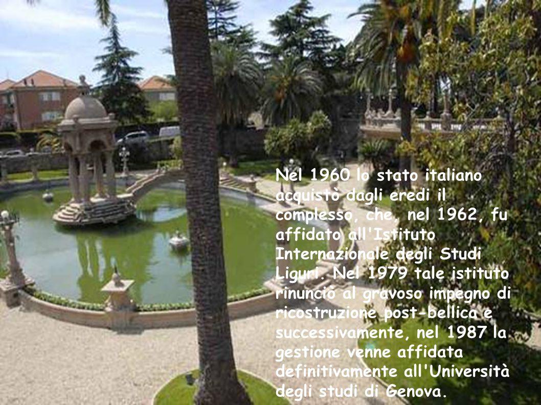 Nel 1960 lo stato italiano acquistò dagli eredi il complesso, che, nel 1962, fu affidato all Istituto Internazionale degli Studi Liguri.