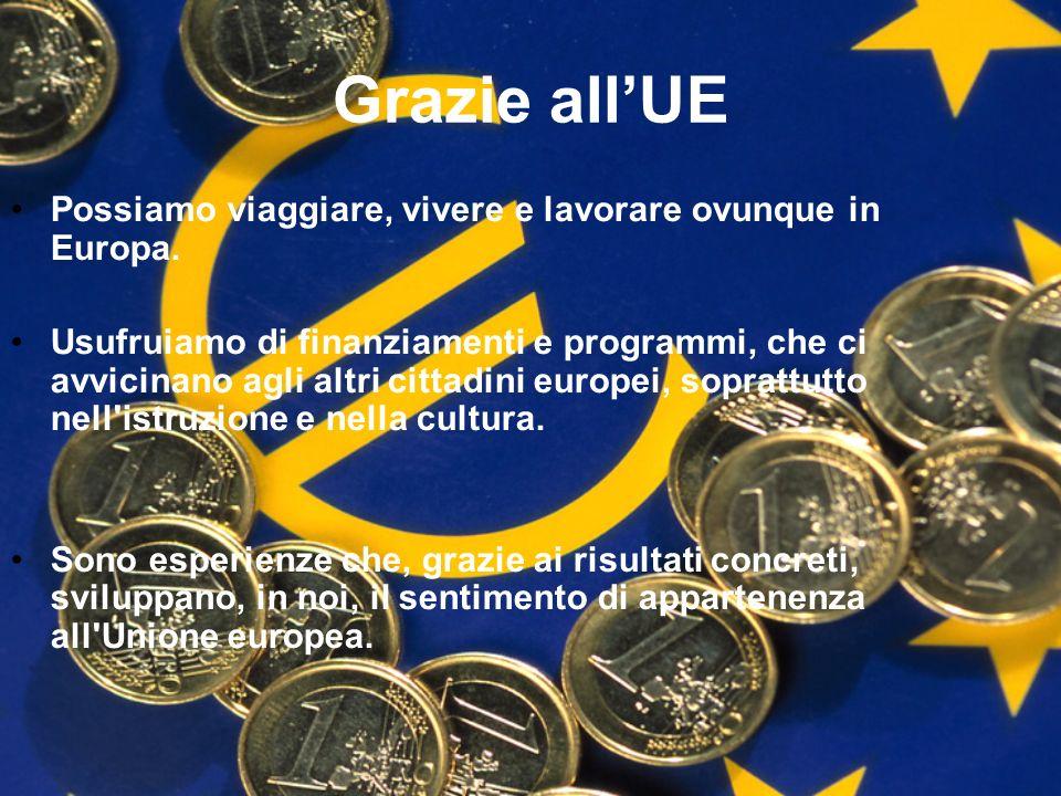 Grazie all'UE Possiamo viaggiare, vivere e lavorare ovunque in Europa.