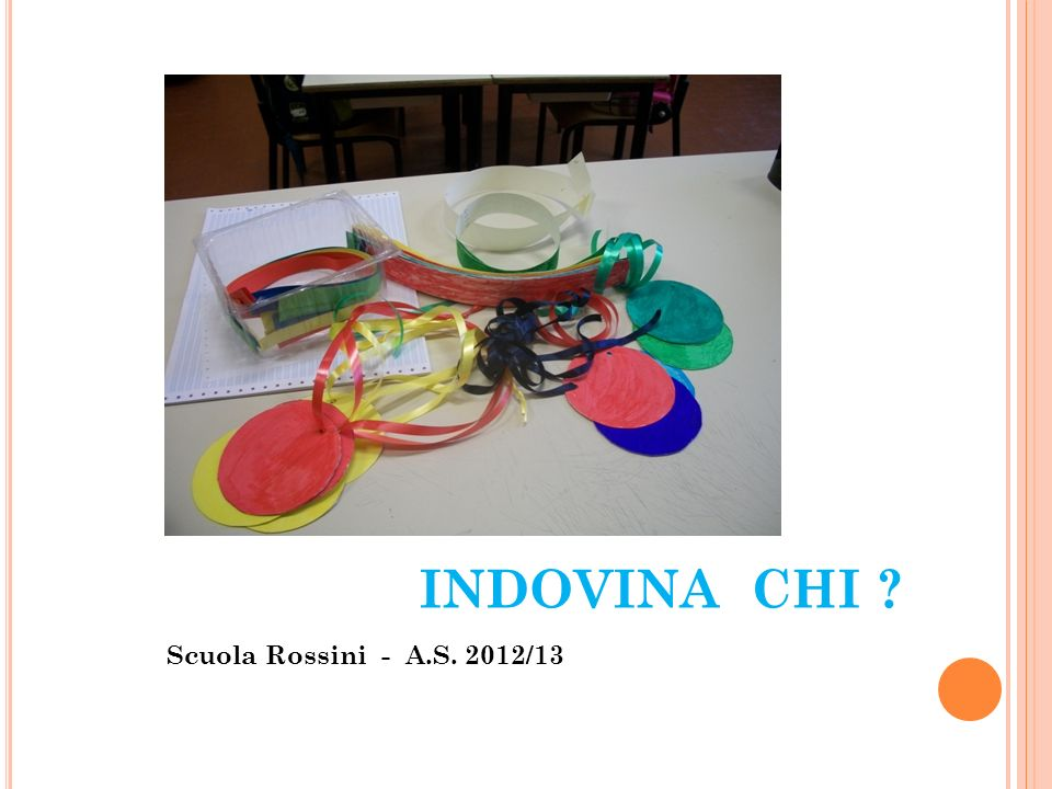 INDOVINA CHI Scuola Rossini - A.S. 2012/13