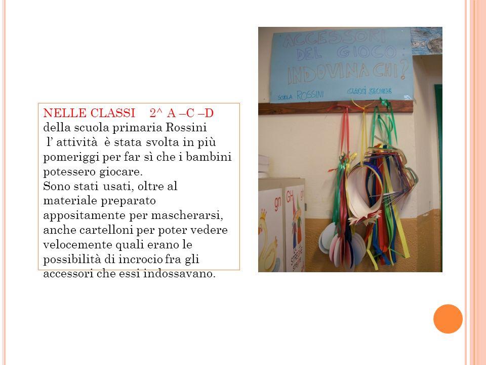 NELLE CLASSI 2^ A –C –D della scuola primaria Rossini. l' attività è stata svolta in più pomeriggi per far sì che i bambini potessero giocare.