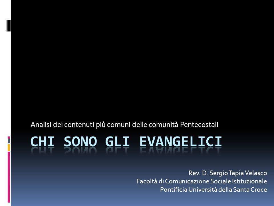 Chi sono gli evangelici