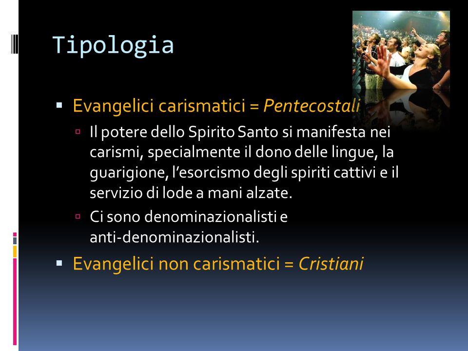 Tipologia Evangelici carismatici = Pentecostali