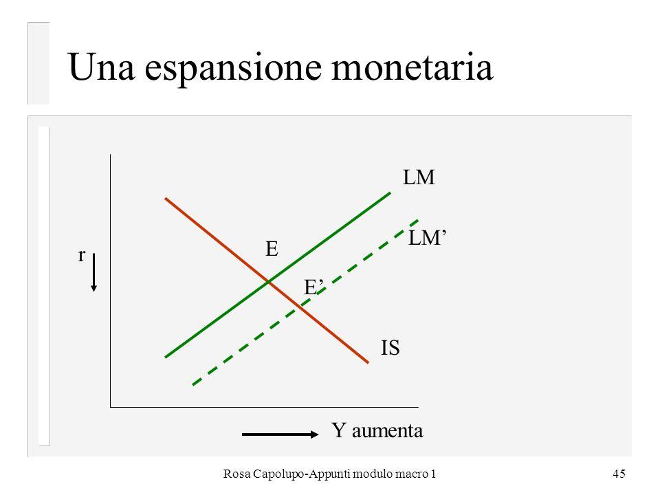 Una espansione monetaria